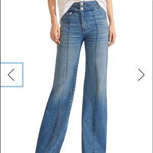 Veronica Beard Wide Leg Jeans Sz 8